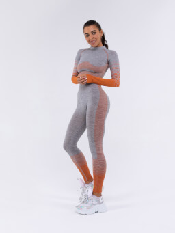 Leggins Body Armour Gray  Orange
